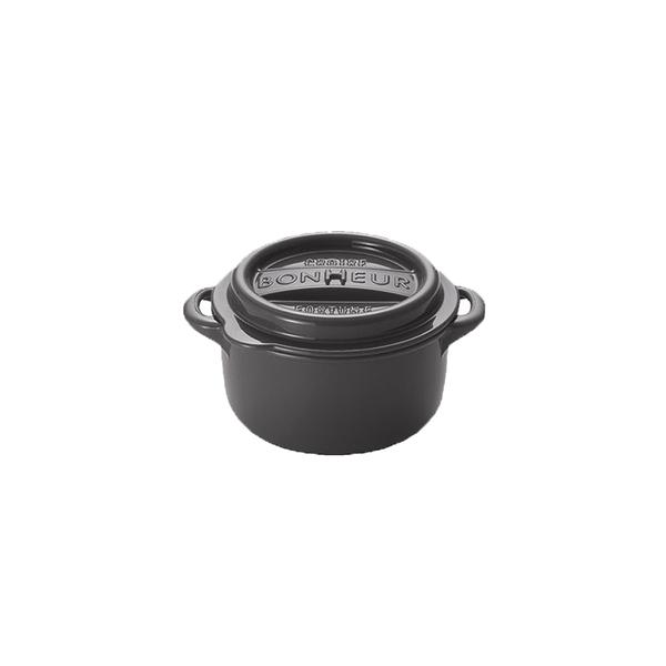 【日本YAMADA】可微波加熱鑄鐵鍋造型密封保鮮盒-圓形款L號 (三色可挑選)