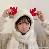 2020秋冬網紅新款韓版可愛百搭加厚圣誕款帽子圍巾手套三件套女潮 新品全館85折