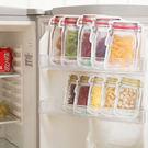 創意廚房用品 仿真收納袋 食物保鮮袋 餅乾零食保鮮袋 食物罐梅森罐拉鍊收納袋 (小)4入