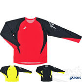 ASICS亞瑟士 田徑長袖T恤(紅*黑) 輕量材質  吸汗抗UV 2014新款