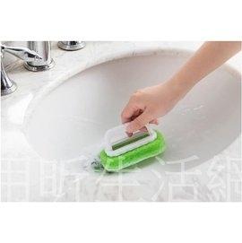 免運【用昕】強力去污手柄海綿刷 不傷手浴室浴缸瓷磚擦 多用途廚房刷 (1件4支裝)