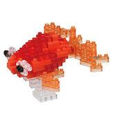 《Nano Block迷你積木》【 可愛動物系列 】NBC-225 大眼金魚 紅 ╭★ JOYBUS玩具百貨