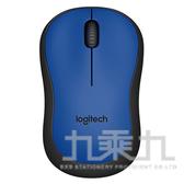 羅技 M221 靜音無線滑鼠-藍
