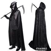 萬圣節服裝成人兒童披風斗篷黑色死神巫師袍黑披風cos吸血鬼衣服   多莉絲旗艦店