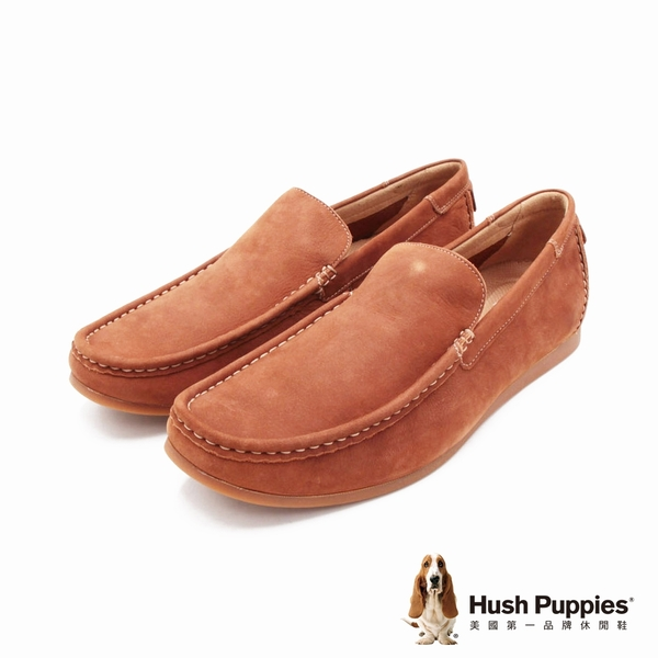 Hush Puppies 紳士皮革樂福男鞋-棕(另有藍)