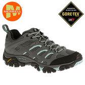 丹大戶外【MERRELL】美國 女款 MOAB GORE-TEX® 登山健行多功能鞋 黃金大底 ML32674 灰/藍色