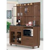 【森可家居】米迪亞4尺石面雙門收納櫃(上+下座) 8CM911-3 收納廚房櫃  碗盤碟櫃 木紋質感 北歐風