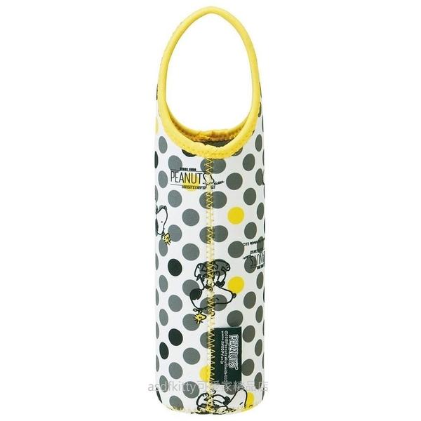 asdfkitty可愛家 SNOOPY史努比灰色點點保溫保冷手提水壺袋/水壺套-日本正版商品
