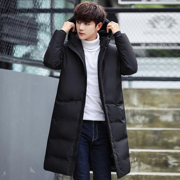 [現貨] 中長款加厚連帽大衣外套 韓版修身長版外套 小中大尺碼【QZZZ03026】