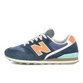 New Balance 女款灰粉色復古慢跑鞋-NO.WL996COM