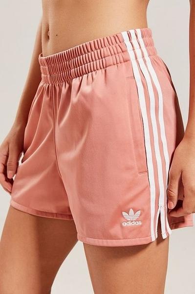 愛迪達 Adidas Original  三葉草 三線 海灘褲 熱褲 女褲 粉紅 粉白 運動短褲CY4765/澤米