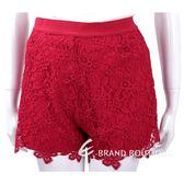 ERMANNO SCERVINO 紅色織花蕾絲短褲 1730002-54