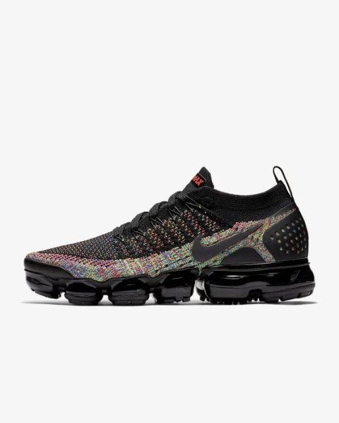 ISNEAKERS Nike air VaporMax Flyknit 2.0 彩虹編織 女鞋 942843-015