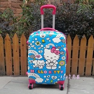 HELLO KITTY兒童拉桿箱李箱包20寸萬向輪【藍星居家】