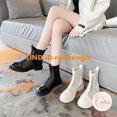 馬丁靴女夏季薄款百搭網紗鏤空短靴單靴【大碼百分百】