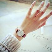 女士女式手表防水時尚款真皮表帶氣質簡約大學生薄款石英s表【韓衣舍】
