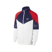 Nike 外套 NSW Windrunner Jacket 白 藍 紅 男款 立領 運動休閒 【PUMP306】 BV2626-121