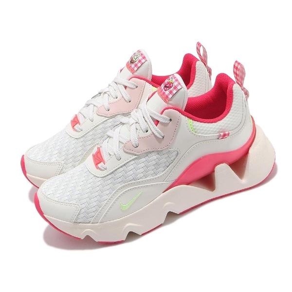 Nike 休閒鞋 Wmns RYZ 365 II 米白 桃紅 孫芸芸 女鞋 增高 格紋 【ACS】 DJ5057-111