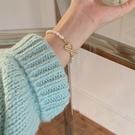 手鏈 愛心淡水珍珠手鏈設計女學生潮高級感韓版時尚【快速出貨八折下殺】