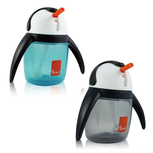 荷蘭 UMEE 優酷企鵝杯240ml 灰/藍