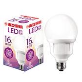 東亞 16W LED G95球型燈泡-黃光【愛買】