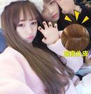 假髮 韓國網紅假髮女長捲髮大波浪圓臉空氣...