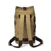 雙肩水桶抽繩背包帆布男ins大容量行李戶外旅行登山運動籃球書包