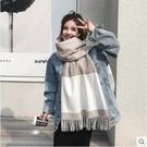 格子圍巾女秋冬季披肩針織韓版百搭男學生可愛ins少女士毛線圍脖 - 風尚3C