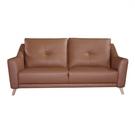 【歐雅居家】亞布森荷蘭牛皮沙發-三人座-焦糖棕 / 沙發 / 布沙發 /三人沙發 / 12層內材
