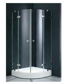 【麗室衛浴】B-029-1 圓弧兩門外開式無框8mm強化玻璃淋浴拉門 .獨特設計白鐵懸吊鉸鏈及白鐵五金
