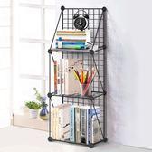 菲斯卡DIY組合桌面上整理小書架鐵網學生多層可拆裝宿舍置物架ATF 三角衣櫃