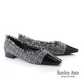 2019秋冬_Keeley Ann我的日常生活 格紋虛邊低跟包鞋(黑色) -Ann系列