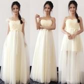 綁帶款 韓版繫列姐妹團伴娘服長款禮服晚禮服結婚
