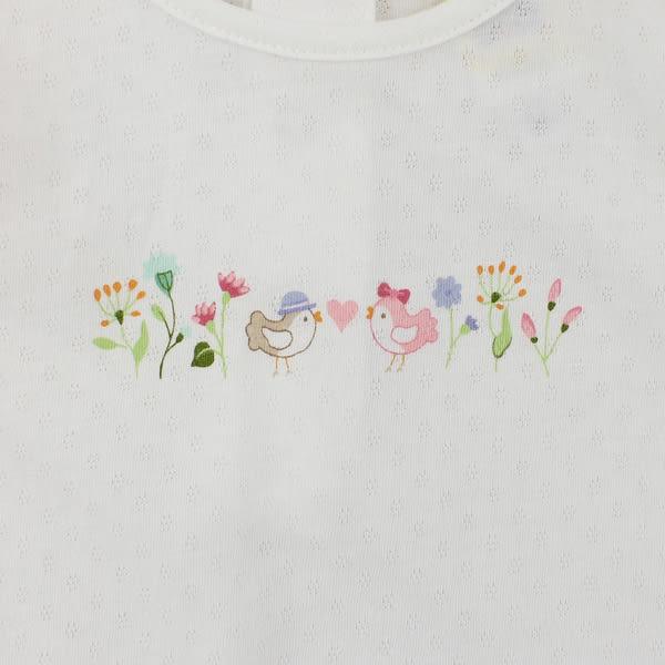 【愛的世界】彈性小蝴蝶兩件式包屁衣套裝/6M~2歲-台灣製- ★幼服推薦 超值特惠