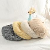 秋冬女帽八角帽潮百搭復古南瓜帽格紋畫家帽英倫風針織貝雷帽 - 風尚3C