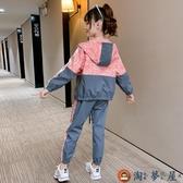兒童 套裝女童秋裝套裝兩件套中大童衣服~淘夢屋~