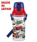BabyPark 迪士尼汽車總動員(透明) 日本製單手彈蓋直飲水壺480ml 飲料壺 CARS 閃電麥坤