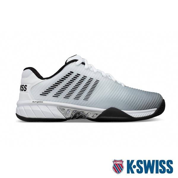 K-SWISS Hypercourt Express 2透氣輕量網球鞋-男-白/黑/灰