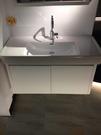 【麗室衛浴】瑞士原裝 LAUFEN 檯面式面盆 81395.8 105CM+台製防水發泡板鋼烤浴櫃