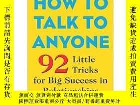 二手書博民逛書店英文原版罕見How to Talk to Anyone如何與人交流Y335736 Leil Lowndes M