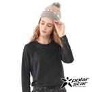 【PolarStar】女 吸排圓領剪接長袖衣『黑』P20256 上衣 休閒 戶外 登山 吸濕排汗 透氣 長袖