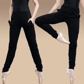 黑色舞蹈褲長褲女成人收口蘿卜褲哈倫褲寬鬆健美操形體褲練功褲子