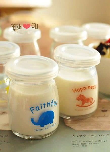 【發現。好貨】韓國zakka雜貨 日式小動物玻璃杯 布丁杯 許願瓶 小奶瓶 果動模 牛奶罐