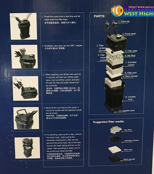【西高地水族坊】第三代全新款 寵物家族,海豚圓桶過濾器C1000(900L/h)(含原廠濾材)(保固一年)