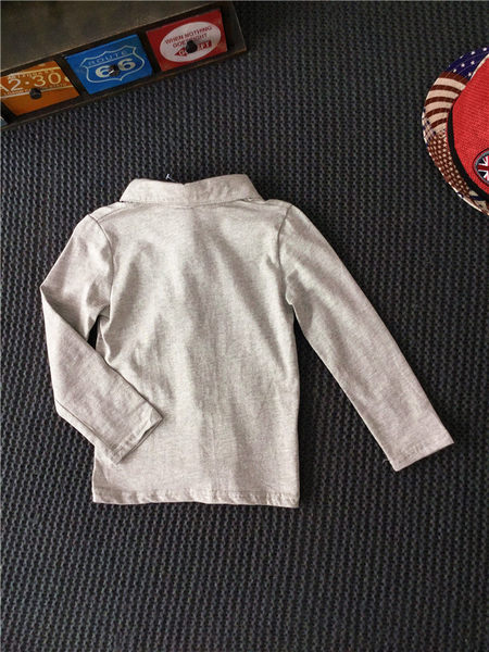 *╮小衣衫S13╭*百搭純色翻領長袖上衣 1050915
