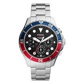 FOSSIL 怒海潛將計時腕錶-FS5767