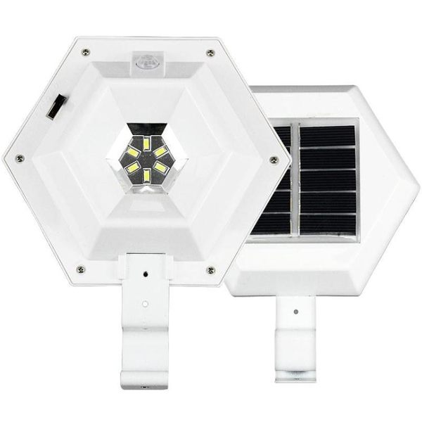 戶外庭院太陽能燈家用超亮照明新農村人體感應燈壁燈led防水路燈  魔法鞋櫃