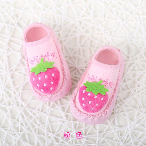 超低折扣NG商品~嬰兒襪 寶寶襪 水果造型 皮革防滑襪 / 嬰兒室內鞋 (11-13CM) CA1256 好娃娃