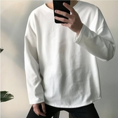 長袖T恤 男裝白色內搭打底衫潮流長袖T恤男生韓版寬鬆上衣日系衣服【快速出貨八折搶購】