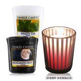YANKEE CANDLE 香氛蠟燭-仲夏之夜+白茶(49g)X2+祈禱燭杯